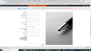 Small Package Shipping Registration Form
